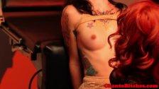 Hot bdsm femdom domina punishing lesbian subs