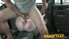 FakeTaxi - Red head fucked in slut hatch