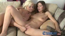 Czech - Horny BFF fuck after she tells story