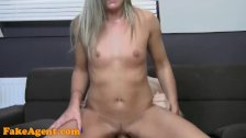 FakeAgent Blonde amateur fucks in interview