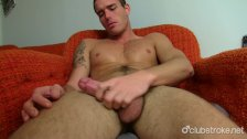 Tattooed Straight Guy Jack Masturbating