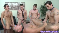Jimmy Davis and co climax at an orgy