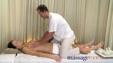 Massage Rooms Big natural tits oiled up
