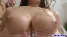 Glam mature in stockings facialized