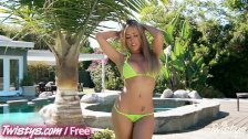 Capri Cavalli shows off her hot body