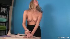 Cute Masseuse Cock Punishment