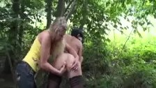 Hot amateur MILF fist fucked by the highway