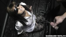 Wife gangbanged and pissed on by many guys