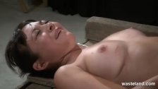 Cute brunette is spanking and given hitatchi
