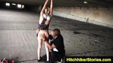 HelplessTeens Piper gets outdoor bondage