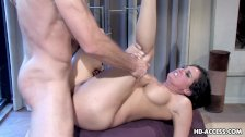 Brunette babe gets to be ass fucked with cock
