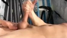 Straight tugging twink gets ass fucked
