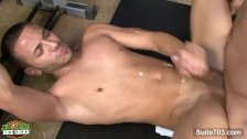 Sexy gay jocks sucking dicks in locker room
