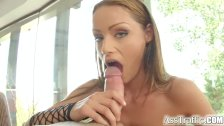 Ass Traffic Sophie lynx swallows cum
