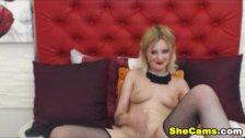 Blonde Teen Shemale Cam