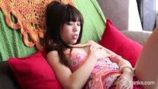 Petite Asian Amy Masturbating