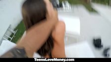 Hitchhiking Teen Fucks For Some Quick Cash!