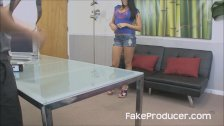 FakeProducer Casting Latina Hottie Blowjob