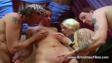 Four amateur British swingers