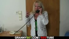 Naughty old grandma in stockings rides cock - duration 6:25