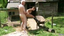 Viril old man bonks his next door sweet babe