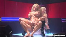Wicked hot blondes fuck and suck in a threeso