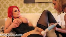 Busty Red Head Plays With All Natural Maggie!