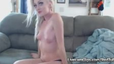 Pretty And Wild Blonde Teen Girl On Webcam!