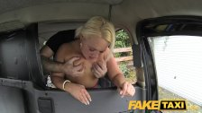 FakeTaxi Chubby blonde sucks cock for a free