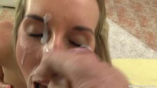 POV fuck and suck ends in huge facial