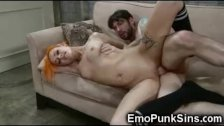 Punk Teen Got a Rough Punishment!