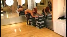 hot flexible redhead playing