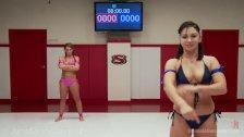 Savannah Fox And Lea Lexis Wrestle Naked
