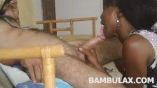 ebony teen amateur blowjob cumshot