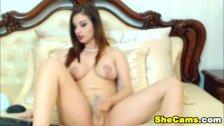 Beautiful Shemale Rebecca Mastubating