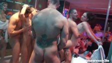 Bi pornstars dance and fuck in group orgy