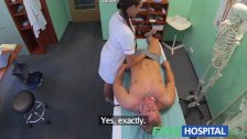 FakeHospital Nurse gets a mouthful of cum