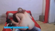 Wonderful 18yo redhead lapdances for teen boy