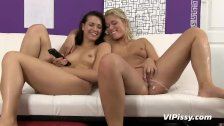 Pee starved coed seduces teen cutie