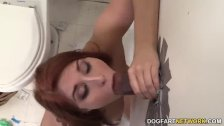 Rose Red Tyrell Fucks A BBC At A Gloryhole