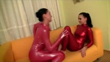 shiny flexi lesbian sex gymnastic