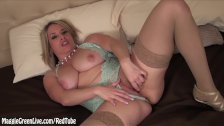 Busty Babe Maggie Green Pleases Herself!