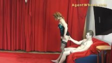 MILF agent whore gives sexy dance to youngste