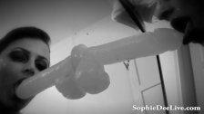 Sophie Dee Retro Dildo Blowjob!