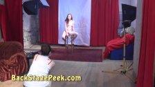 Backstage of erotic photoshoot with 18yo teen