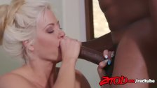 Holly Heart gets pierced by a big black cock