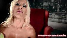 Puma Swede Fucks Pussy With Glass Dildo!