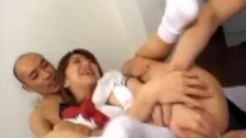 Airin Okui and gal suck dicks and are fucked