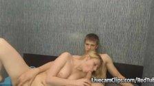 Blonde Sucking Her Boyfriend's Dick On Cam