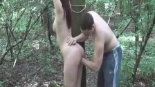 Brutal teen fist fucking outdoors